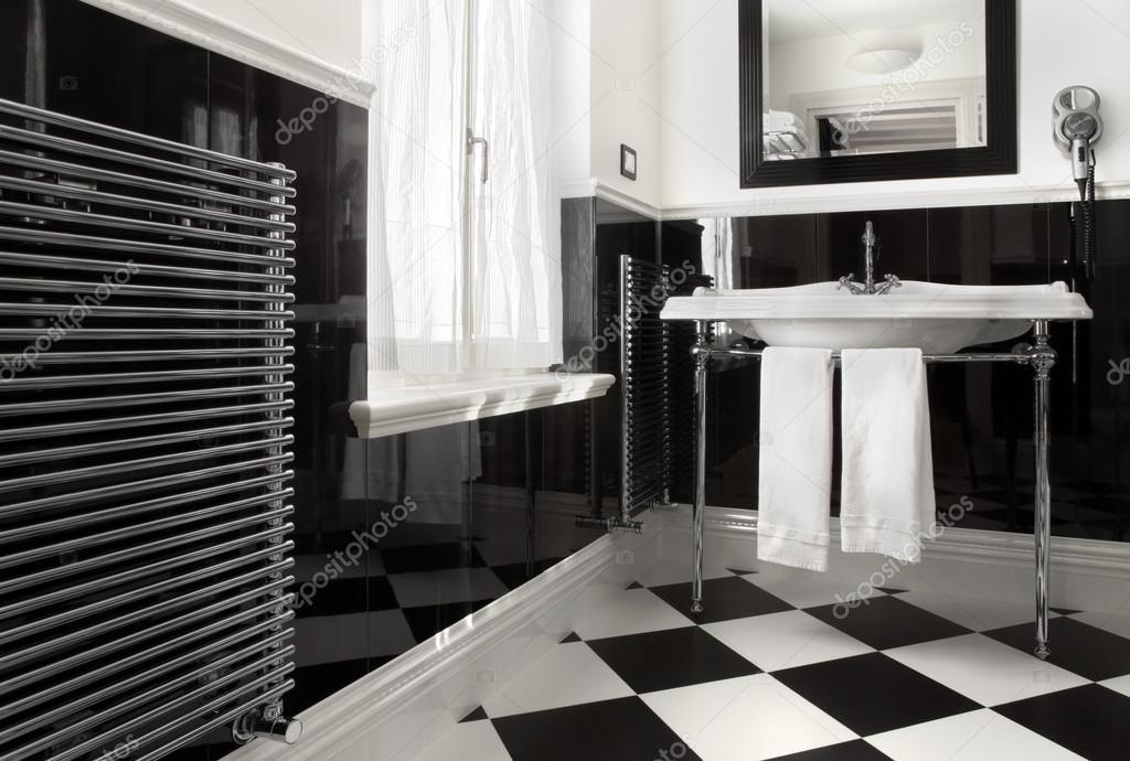 fürdőszoba fekete-fehér színű — Stock Fotó © amedeoemaja #44400511