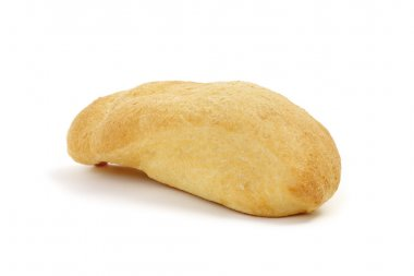 single bread on a white background