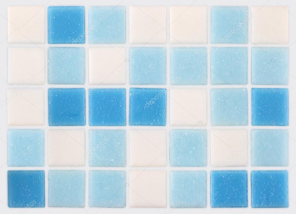 Molto sfondo di mosaico di piastrelle bianche e blu — Foto Stock  FK34