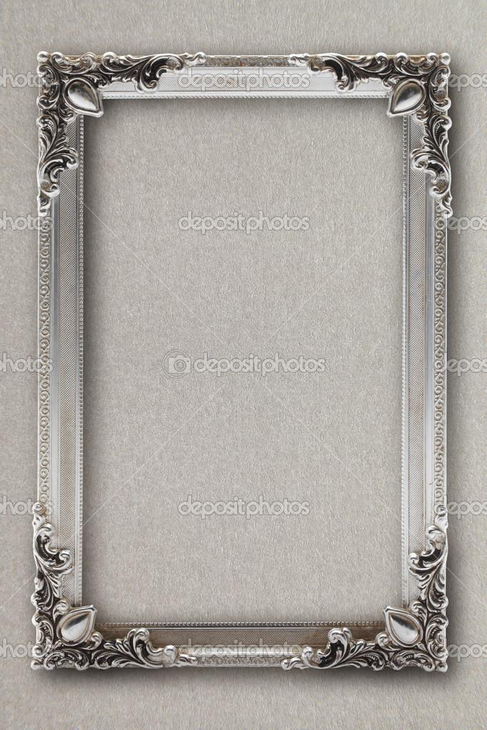 Silber Bilderrahmen auf Hintergrund mit Effekten — Stockfoto ...