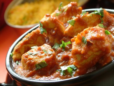 Indian curry on plate