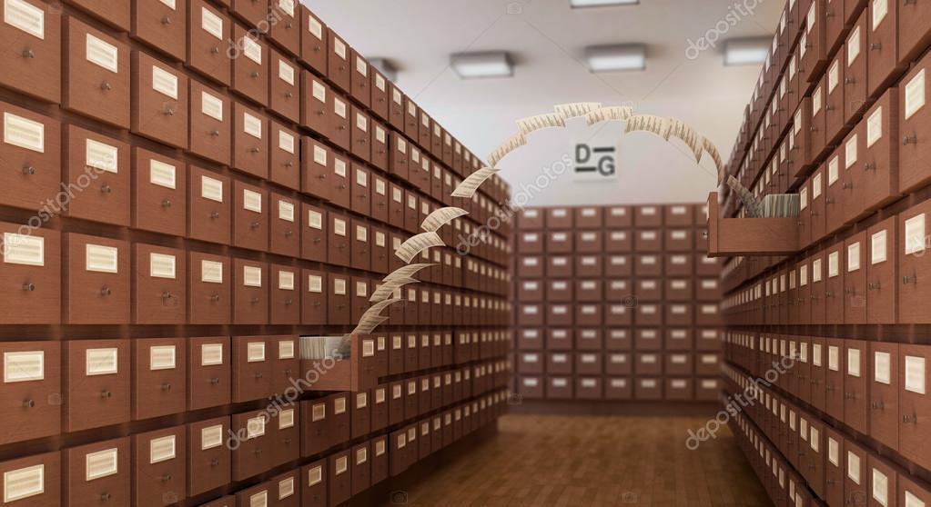 bibliotheek boekenkast met vliegen pagina \'s — Stockfoto ...