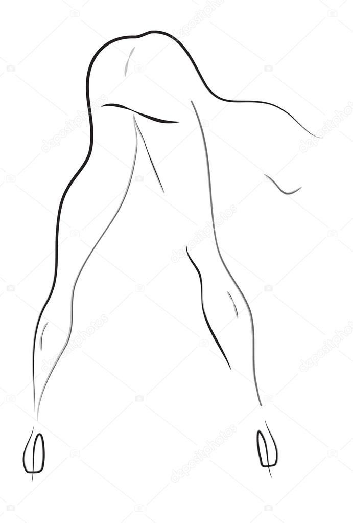 Erotical woman body pose