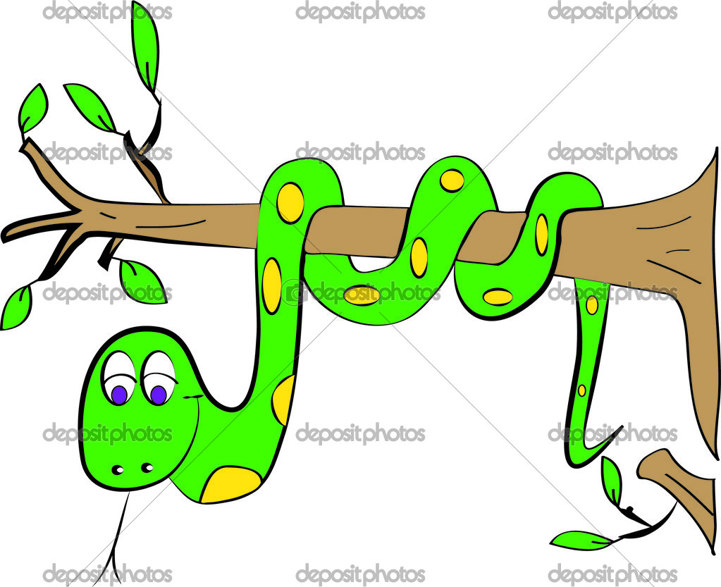 Snake on a tree — Stock Vector © stanslavov1 #39335321