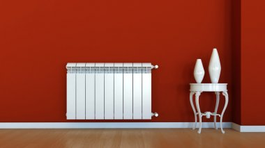 Interior scene with radiator