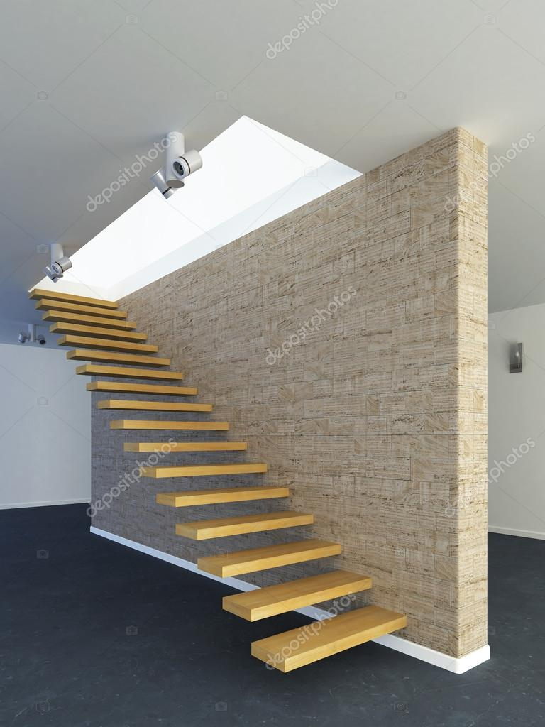 Escalier moderne en bois — Photographie stanslavov1 © #49109221