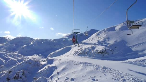 Ski lift ride
