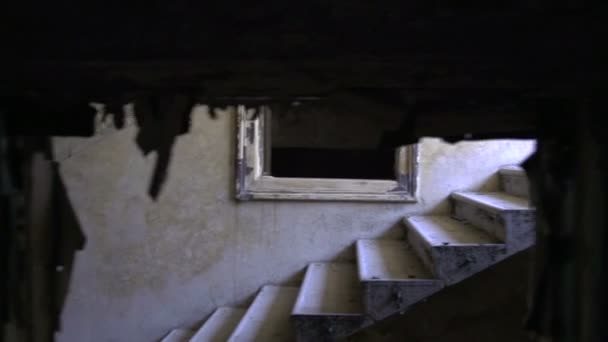 Stairway in abandoned house