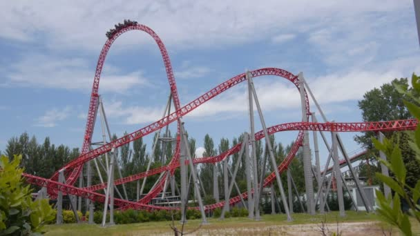 Fast ride on roller coaster