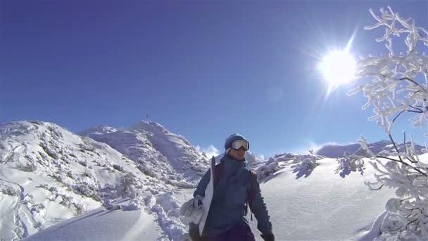 ženské snowboardista, turistika