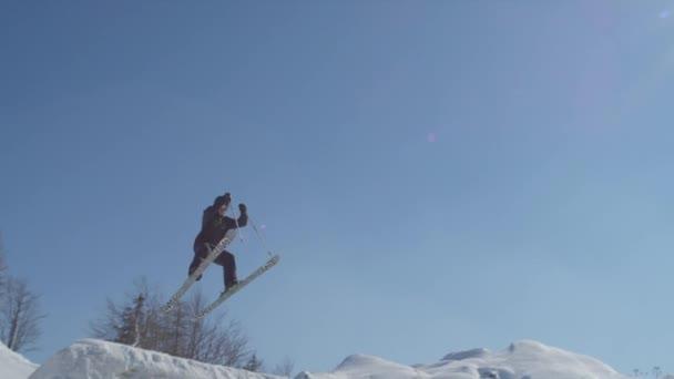 lyžař skákání velké letecké