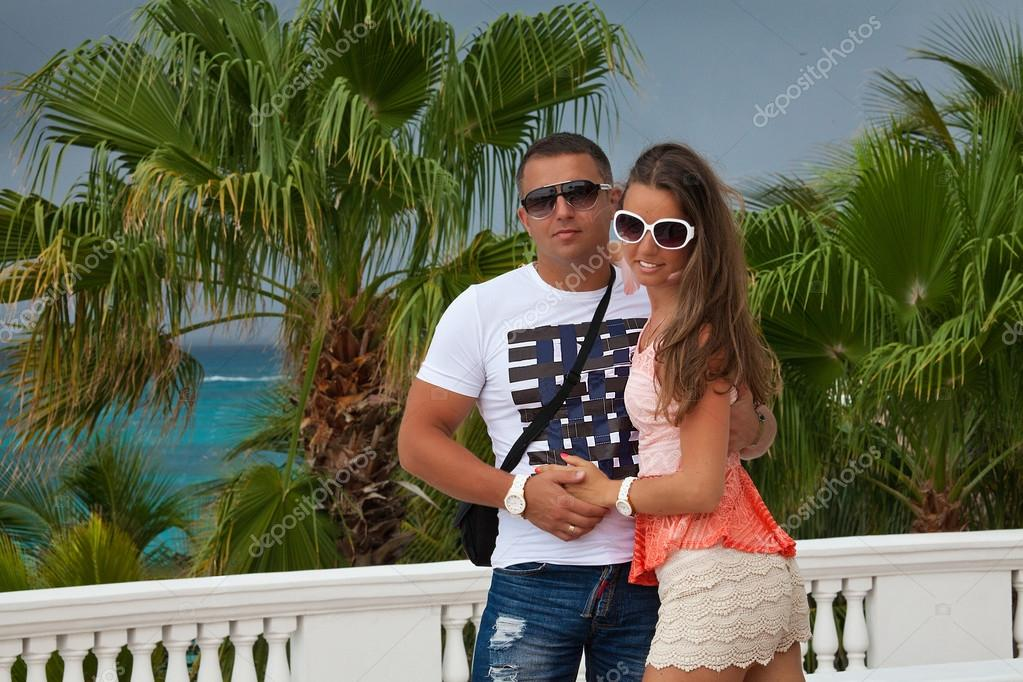 Beautiful couple enjoying vacations