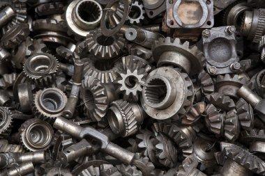 Old machine parts background