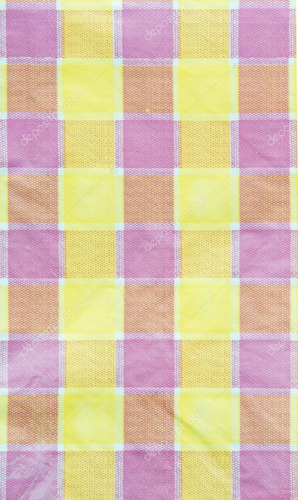 Yellow , Violet , Pink Checkered Tablecloth Background, Texture U2014 Photo By  Sirastockid08