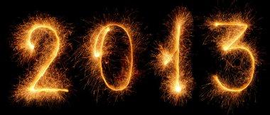 Sparkler. New year 2013