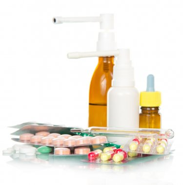 Various medications for colds