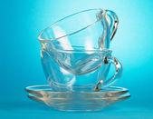 Fotografie prázdné skleněné poháry