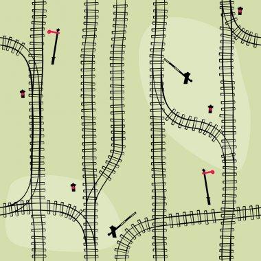 Seamless railroad Pattern, background.