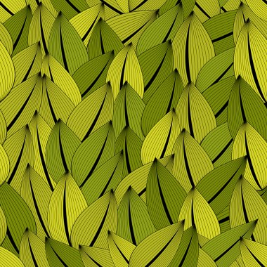 Leaves seamless pattern, background.