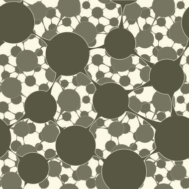 Molecular Structure Seamless Pattern background