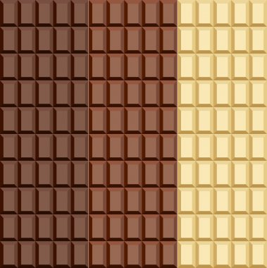 Set. Seamless chocolate patterns.