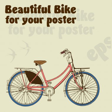 Beautiful bike for your poster stock vector
