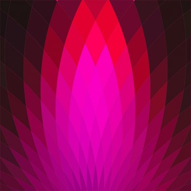 Background with bright pink geometric flower.