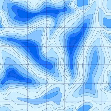 Seamless abstract topographical map with lines of the deep sea.