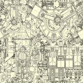 kreslení motor bezešvé vzor