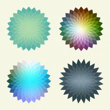 Abstract polygonal vector background that reminds a flower. Place for your text.
