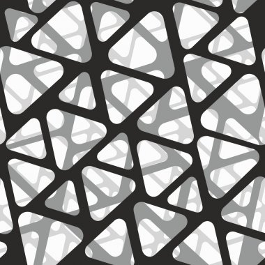 Vector seamless pattern. Modern stylish 3d texture of mesh. clip art vector