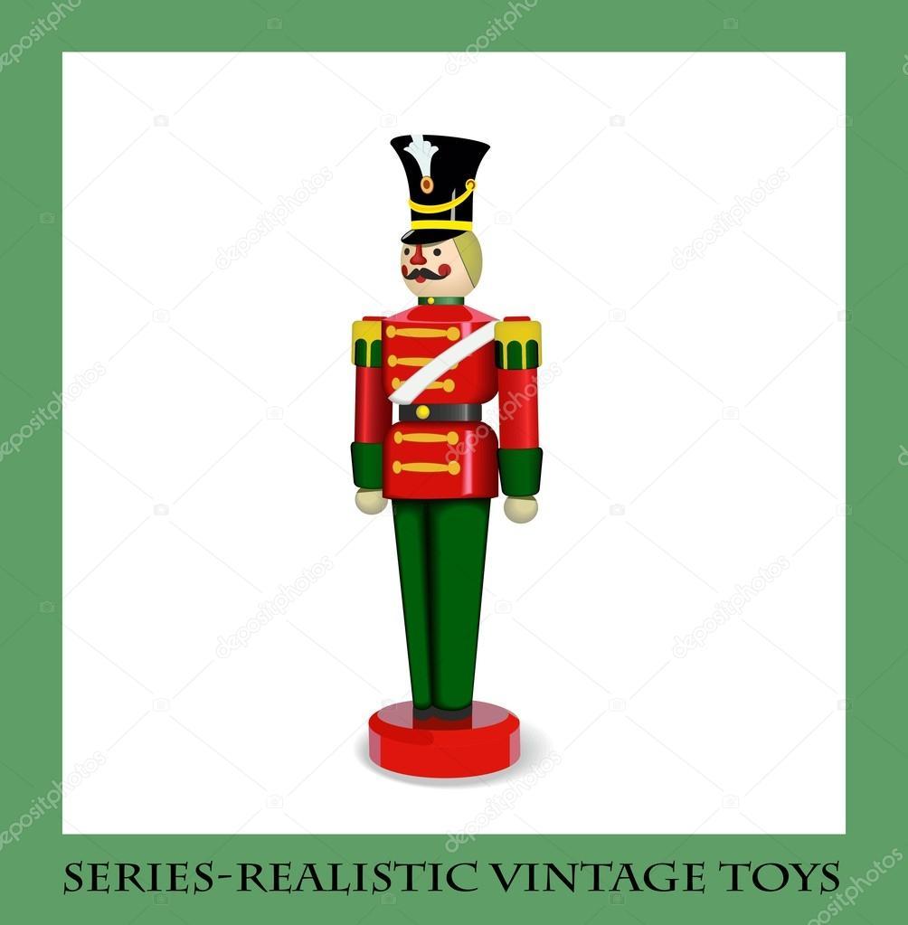 bunte Weihnachten Holz Soldat — Stockvektor © PGMart #50786353
