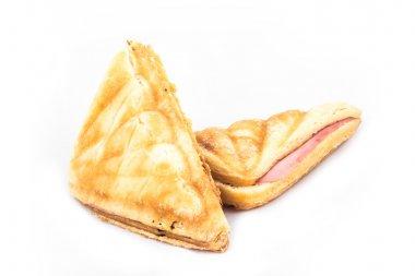 Homemade sandwich ham and cheese