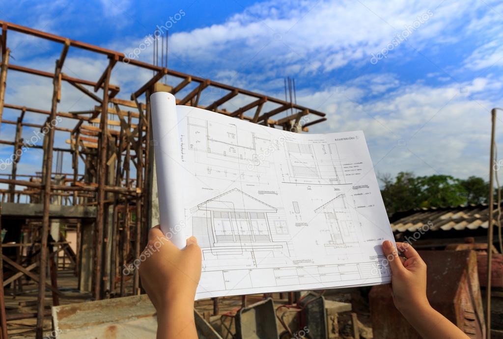 Architektura Kresby V Ruce Na Pozadi Budova Domu Stock Fotografie