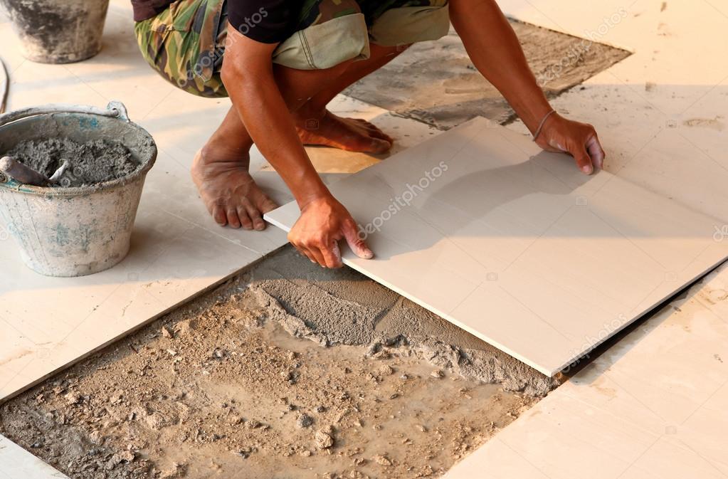 Instalaci n de piso de azulejo para el edificio de la casa for La casa del azulejo san francisco