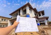 Architektura kresby v ruce na big house building