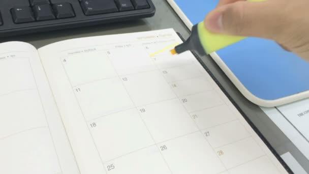 Calendar mark for holiday