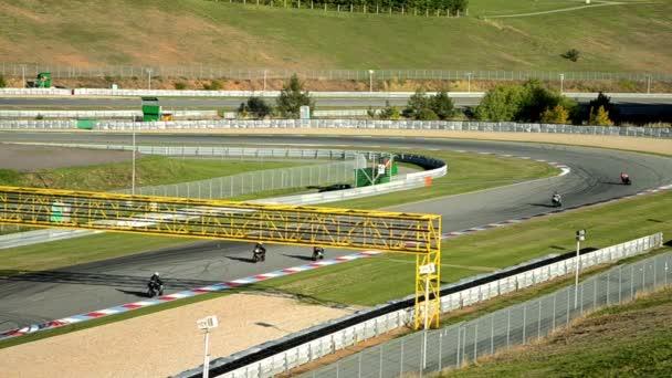 Racing on moto gp