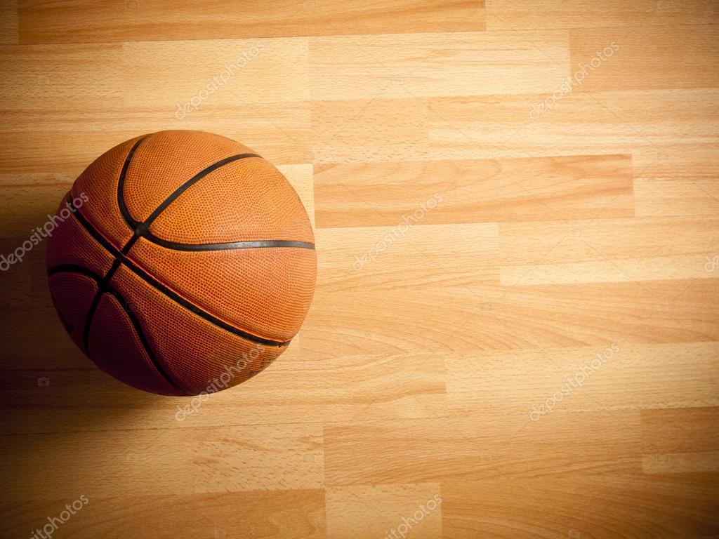Una Sfera Arancione Ufficiale Su Un Campo Da Basket In