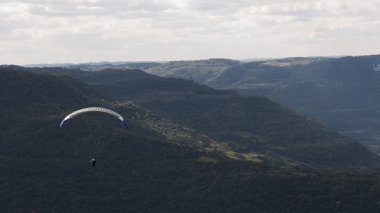 Free-Flying on Paragliding at Rio Grande do Sul, Brazil