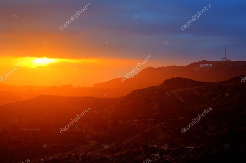 Sunset in Hollywood Hills