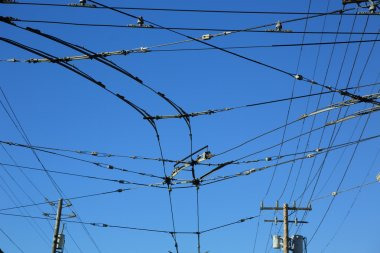 Wires over sky