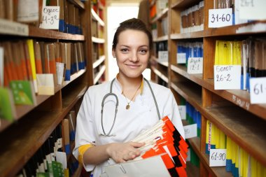 Doctor with medical records