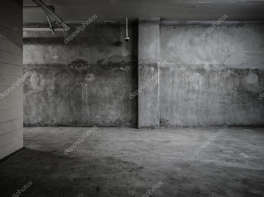 Empty concrete room interior