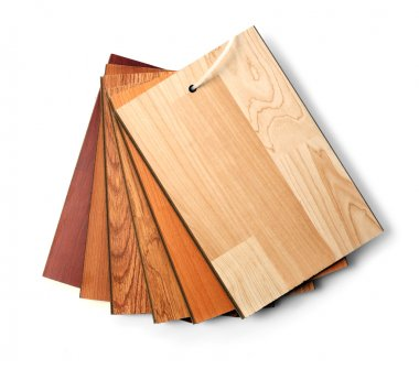 Sample pack of wooden flooring laminate