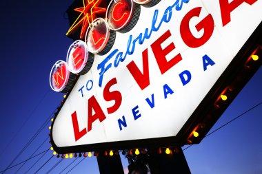 Las Vegas sign close-up.