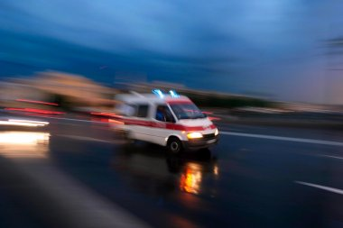 Ambulance car speeding