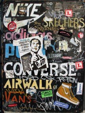 Urban commercial art and graffiti