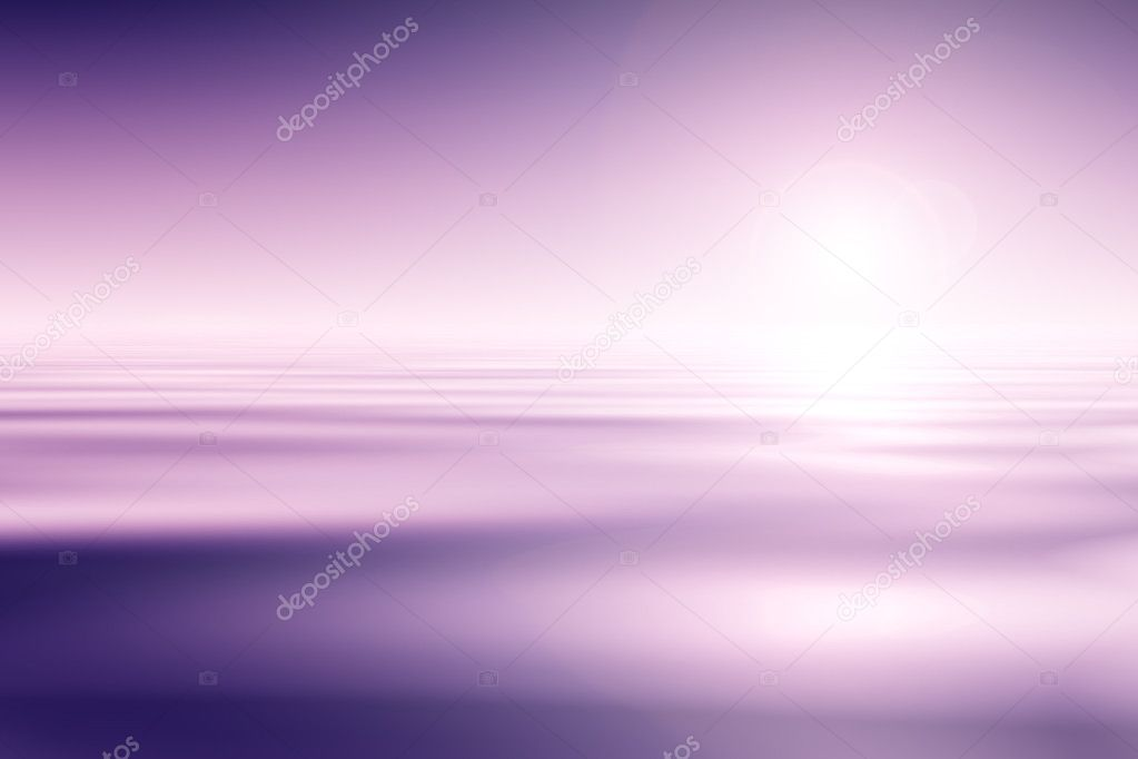 Purple Water And Sky Background