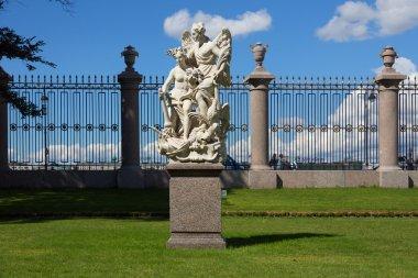 Sculptural group in the Summer Garden in St. Petersburg
